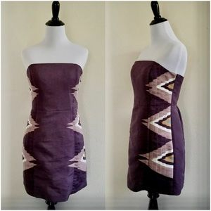 Urban Outfitters-Ecote Purple Pleated  Aztec dress